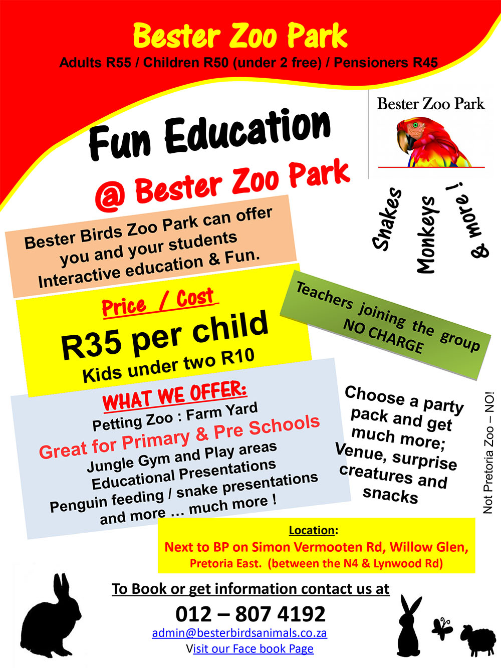 Bester Birds Education Flyer